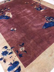 Antique Chinese Peking Carpet  9 x 11.5