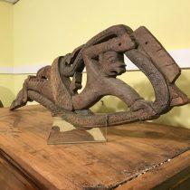 Carved wooden Hindu Hanuman God