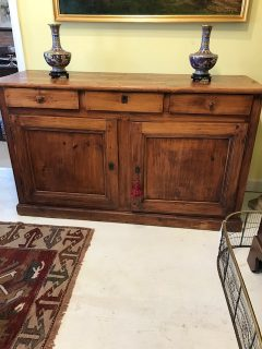 E 19th c American Pine Sideboard   SOLD