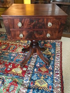 Early 19th c American 2 Drawer Stand