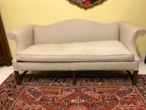 Chippendale-Style Upholstered Sofa