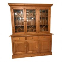 English Pine Breakfront/Bookcase   SOLD
