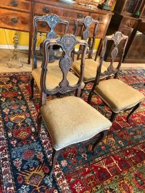 Set of Four 18th c French Country Chairs