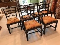 Set of 6 Early 19th c Mahogany Dining Chairs