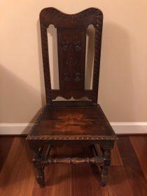 18th c English Oak Side Chair