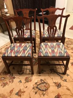 Set of 4 Mahogany Chippendale-Style Side Chairs