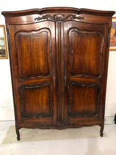 Louis XV-Style Walnut Armoire