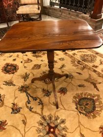 19th c English Elm Tripod Table