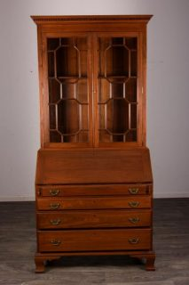 Mid 20th c Cherry Secretary Bookcase   SOLD