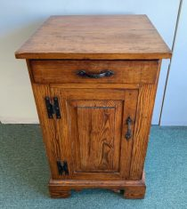 18th c American Oak Side Cabinet