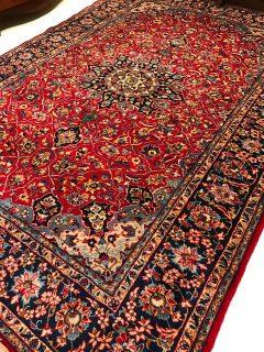 Antique Persian Kashan  7.8 x 11