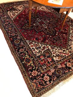 Antique Persian Heriz  6.6 x 9.3