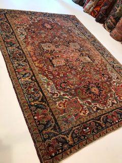 Antique Persian Heriz  6.6 x 8.11