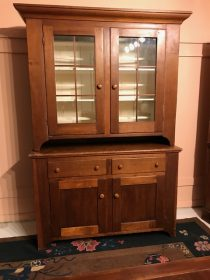 American Chippendale Pine Stepback Cupboard