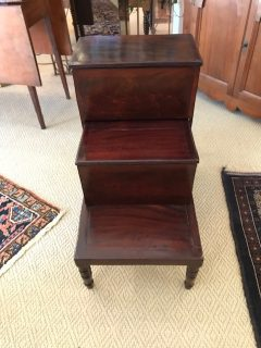 19th c Mahogany Bed Steps/Library Steps