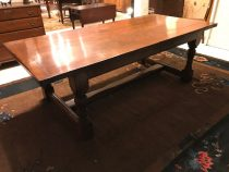Bench made English Oak Dining Table