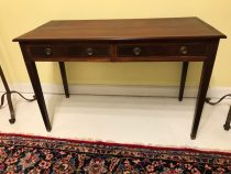 Hepplewhite Mahogany Two Drawer Table