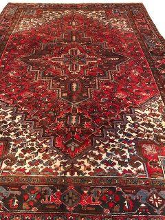 Antique Persian Heriz 7.6 x 10.3