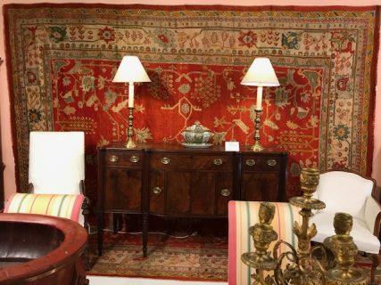 Antique Turkish Oushak  11.11 x 13.9