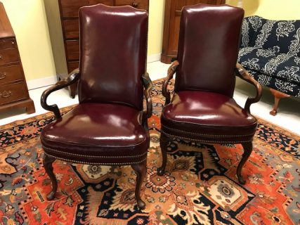 Pair of Leather Armchairs     SOLD