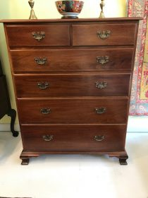 Mahogany Chippendale-Style Chest of Drawers by BIGGS Furniture