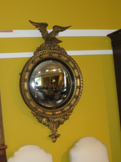 19th C Regency Style Convex Mirror