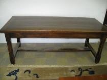 19th c Elm Trestle Table