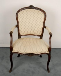 19th c Louis XV-style Arm Chair