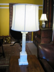 19 c Alabaster Tall Lamp