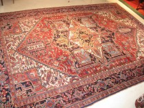 Antique Persian Heriz  9.4 x 12.10