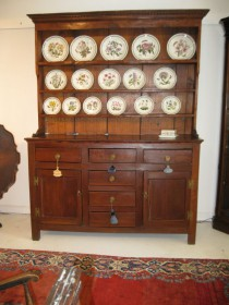 18th c American Walnut Welsh Dresser