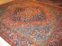 Antique Persian Heriz  9.5 x 10.9