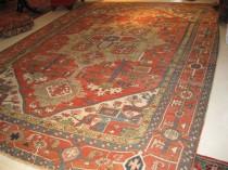 19th c Persian Serapi 9.7 x 13.2