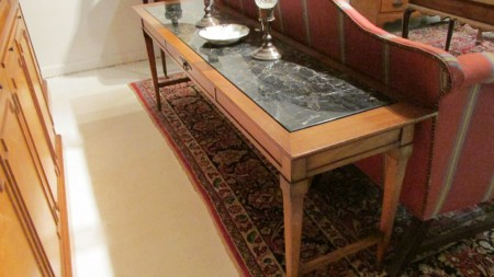 Early 20th c English Marble-Top Console