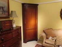Edwardian  Mahogany Corner  Cupboard