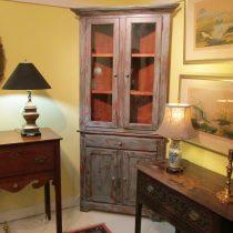 Painted Corner Cupboard