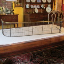 Early 19th c American Wire and Brass Fire Fender