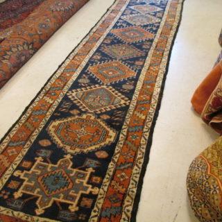 Antique Persian Heriz  3.1 x 12.8