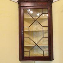 18th c English Hanging Corner Cupboard