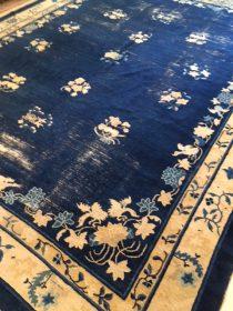 Antique Chinese Peking Carpet  9 x 11.7