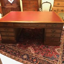 19th c Chippendale-Style Leather Top Partners Desk    SOLD