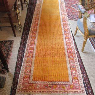 Antique Turkish Oushak  2.7 x 10.1