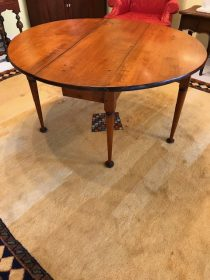 18th c Tiger Maple Drop Leaf Table  SOLD