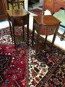 Pair of Mahogany Edwardian Side Tables   SOLD