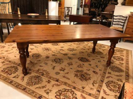 Custom Made Pine Farm Table