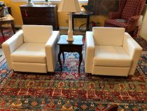 Pair of Modern Leather Chairs   SOLD