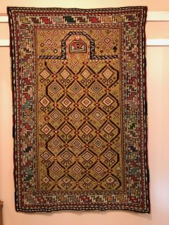 19th c Caucasian Daghastan   3.3 x 4.9