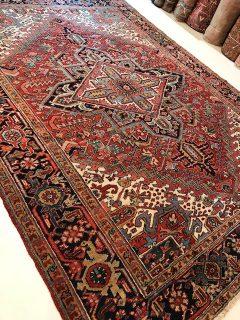 Antique Persian Heriz 8.2 x 11