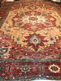 Antique Persian Serapi  11.9 x 15.3