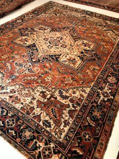 Antique Persian Heriz  8.5 x 10.6      SOLD